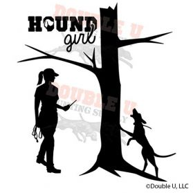 Hound Girl Treed Decal