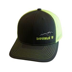Double U Richardson 112 Grey with Neon Yellow Mesh Cap