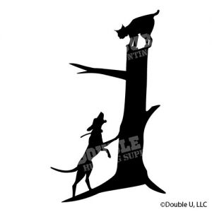 Bobcat Treed Silhouette Decal