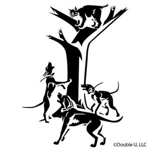 Bobcat Treed Vinyl Decal Hounds
