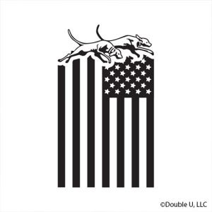 Double U Dogs American Flag Decal