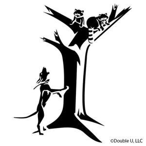 Raccoon Treed Decal