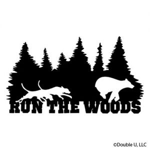 """Run The Woods"" Bear Decal"