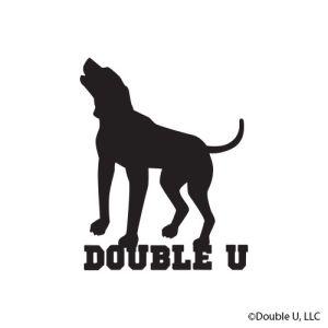 Double U Standing Dog Decal