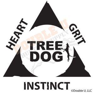 Tree Dog Triangle Decal Heart Grit Instinct