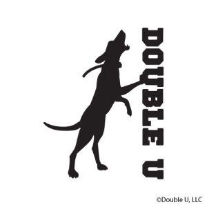 Double U Treeing Dog Decal