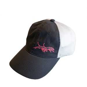 Double U Youth Pink Dogs Logo White Mesh Hat